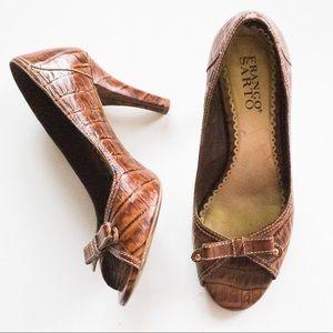 Franco Sarto | Vintage Light Brown Peep Toe Heels